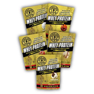 GOLD'S GYM(ゴールドジム) ホエイプロテイン+ホエイペプチド&ビタミン 小袋